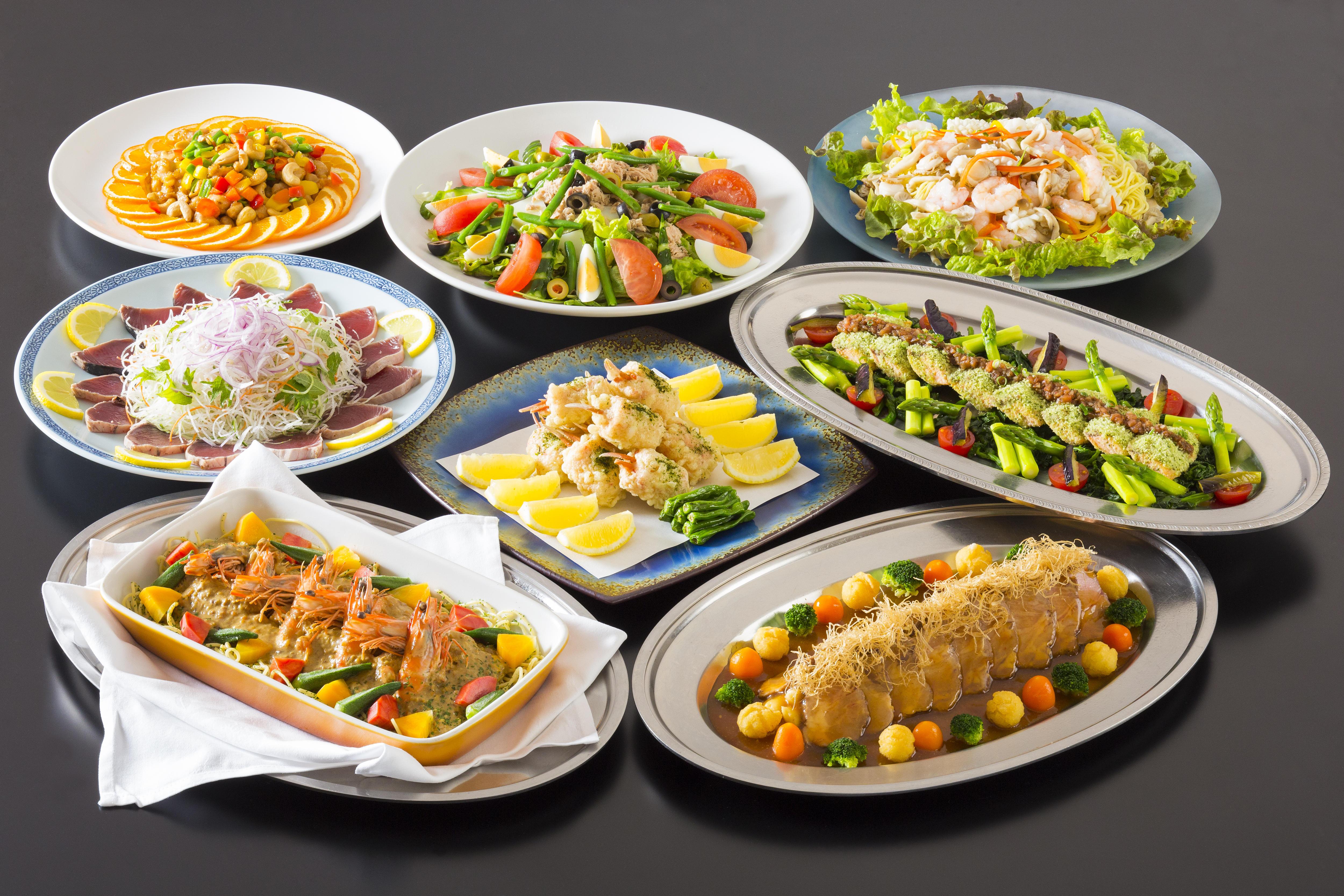 Japanese, Western & Chinese Kaiseki - 和洋中盛り込み料理