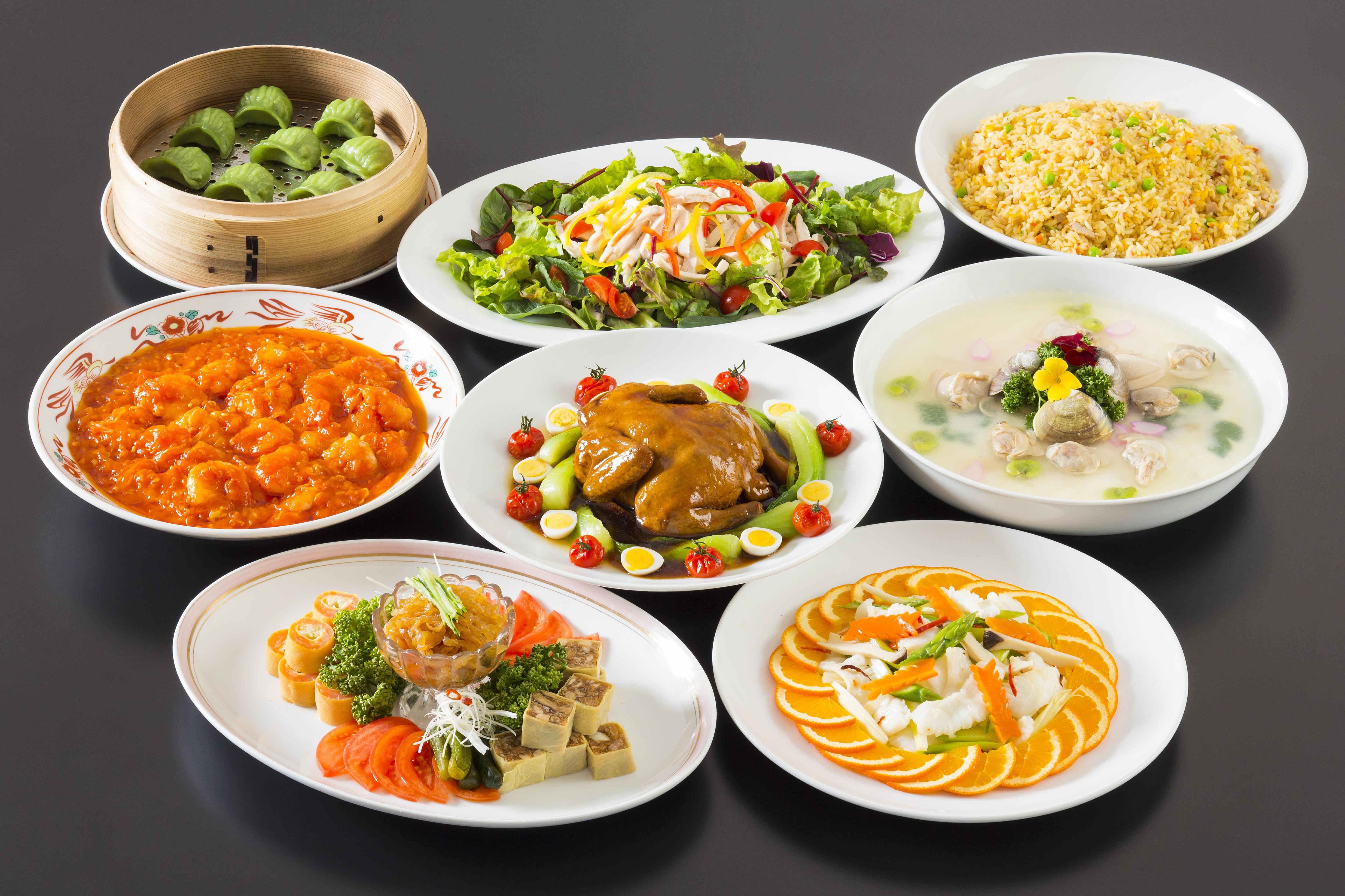 中華盛り込み料理プラン